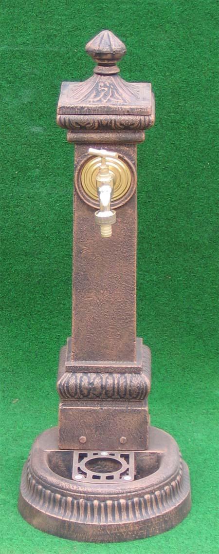 nostalgischer standbrunnen mit wasserhahn 71cm garten passion. Black Bedroom Furniture Sets. Home Design Ideas