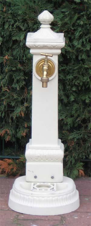 nostalgischer standbrunnen mit wasserhahn 100cm weiss. Black Bedroom Furniture Sets. Home Design Ideas