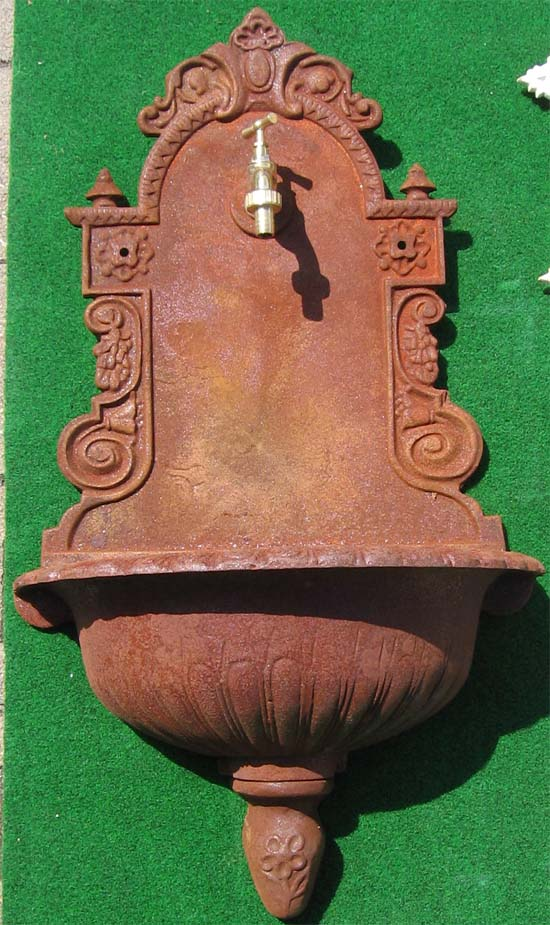 nostalgischer wandbrunnen klassischer stil 80cm antik rost garten passion. Black Bedroom Furniture Sets. Home Design Ideas