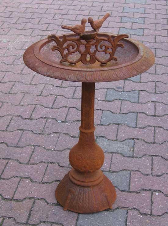Eisen vogeltr nke 2 v gel antik rostig 29kg 85cm rost for Eisen rostig garten