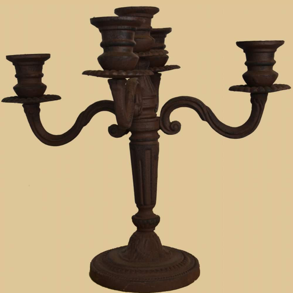 5 flammiger kerzenst nder garten passion. Black Bedroom Furniture Sets. Home Design Ideas