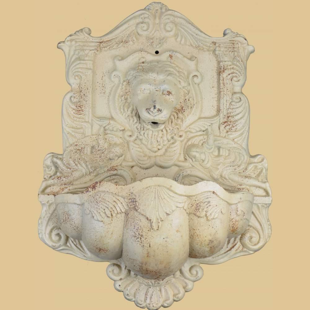 wandbrunnen gusseisen antik weiss rost garten passion. Black Bedroom Furniture Sets. Home Design Ideas
