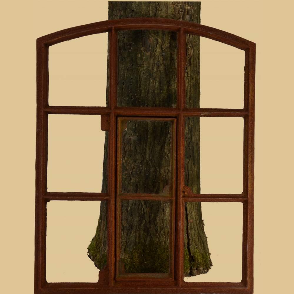 bauernfenster rundbogen mit t rchen garten passion. Black Bedroom Furniture Sets. Home Design Ideas